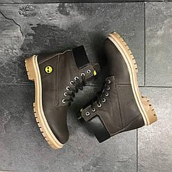 Мужские зимние ботинки ,шоколадного цвета.