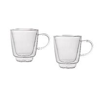 Комплект кофейных чашек с двойным дном 2 шт по 70 мл