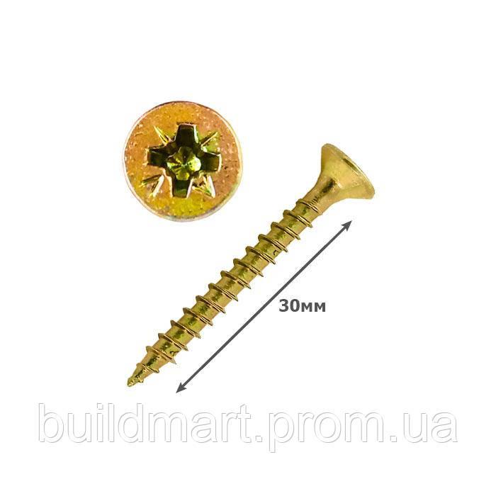 Шуруп универсальный желтый 3.5х30 (500шт.)