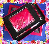 Подарочный набор: визитница, ручка, брелок Подарок для женщины, фото 1