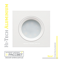 Алюминиевый светильник Hi-Tech Feron DL6102 White Aluminium (встраиваемый потолочный) белый матовый квадрат