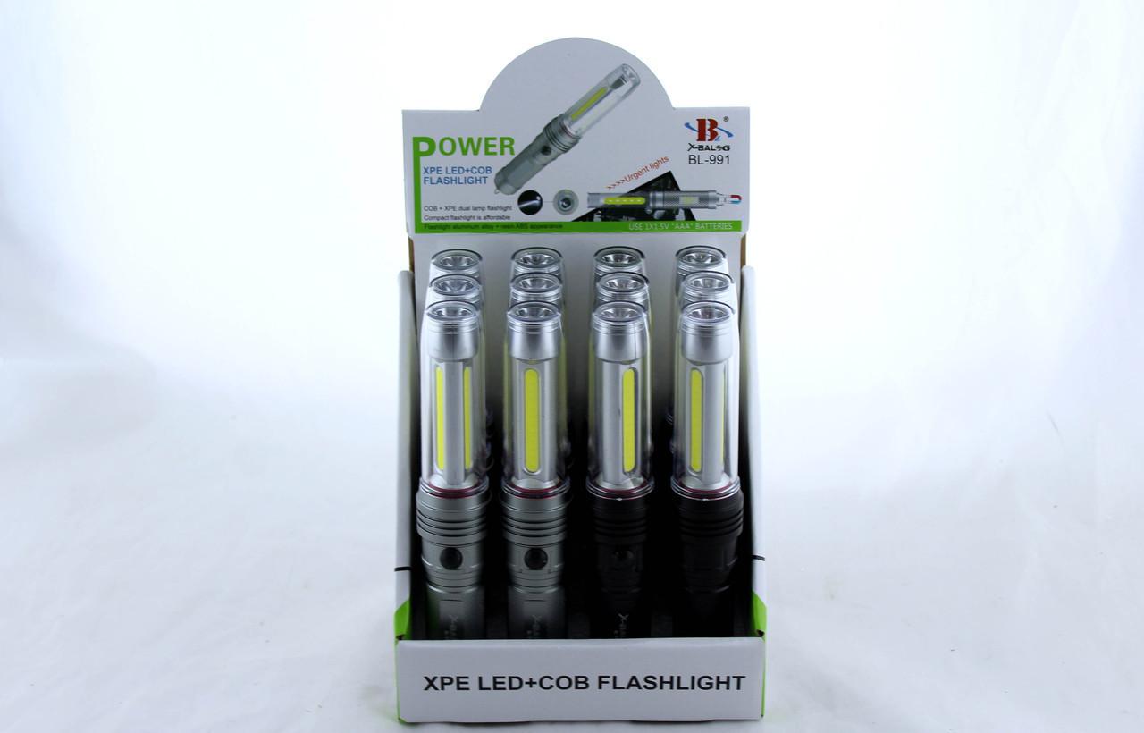 Фонарик BL 991, Ручной фонарик, Светодиодный фонарь (Цена за упаковку 12 штук)