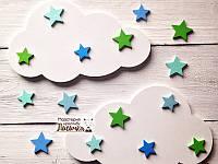 """Декор для дитячоі """"Хмаринки з зірочками"""""""