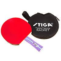 Ракетка для настільного тенісу 1 штука Stiga Force ST-204B в чорному 1 2 f616c67f185a6