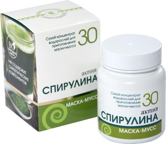 Спирулина Актив, маска косметическая сухая 30 г
