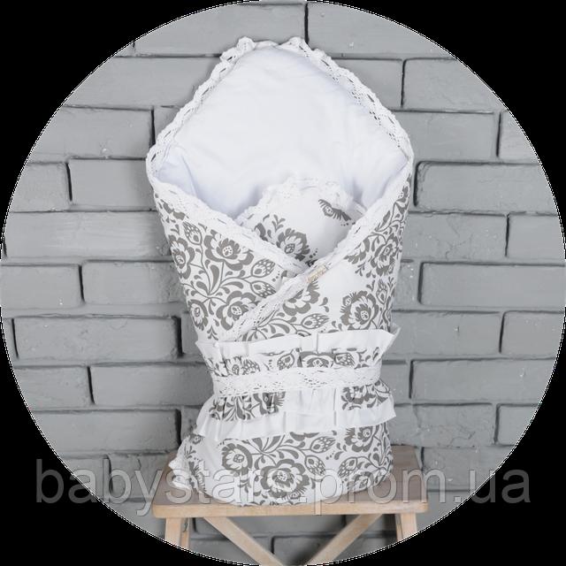Конверт-одеяло с кружевом