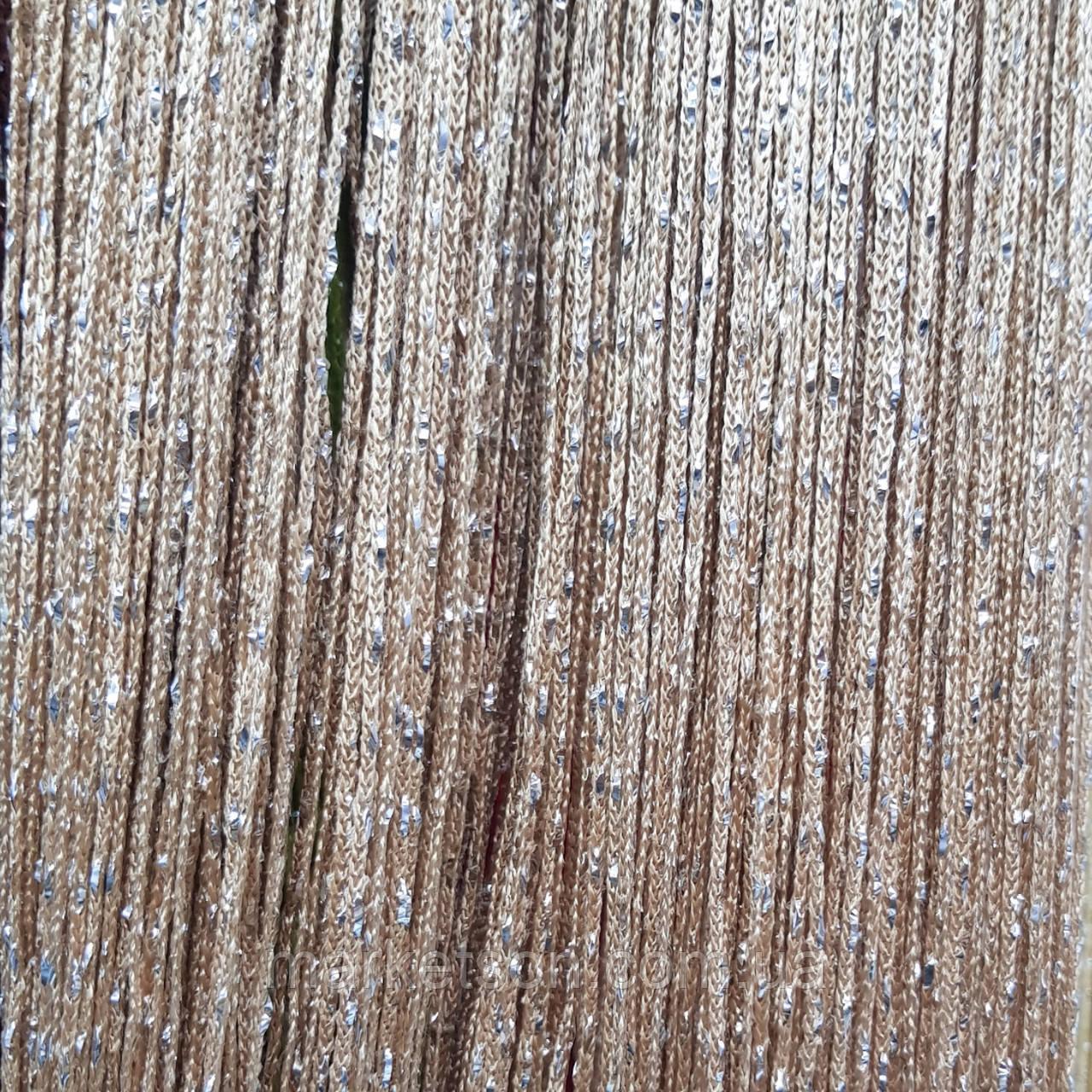 Шторы нити кисея радуга, дождь, лапша с люрексом