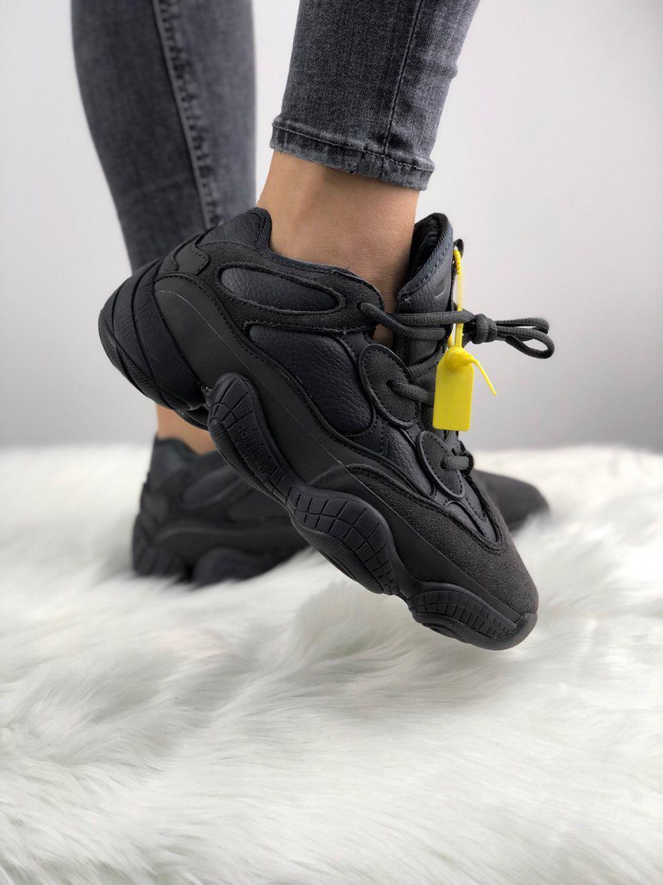 Зимние кроссовки Adidas Yeezy 500 Utility Black (Мех)