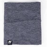 Зимний хомут шарф шарш PUNCH - Snug, Dark/Grey melange