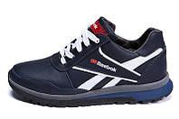 Мужские кожаные кроссовки Anser Reebok NS blue реплика