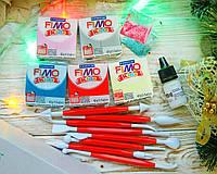 Подарочный набор Фимо Кидс (Германия) с глиттером+ инструменты+ лак+термоклей+ коробка