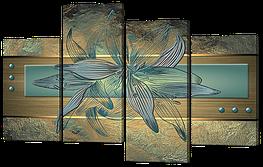 Модульная картина Interno Холст Необычна лилия 126x83см (R657L)