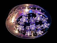 Светодиодная галогенная люстра на 11 ламп с пультом управления