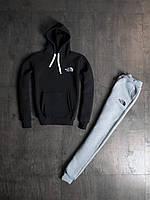 Мужской зимний спортивный костюм The North Face Black/Grey