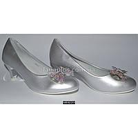 Нарядные туфли для девочки 36 размер (23.2 см), праздничные туфельки на каблучке