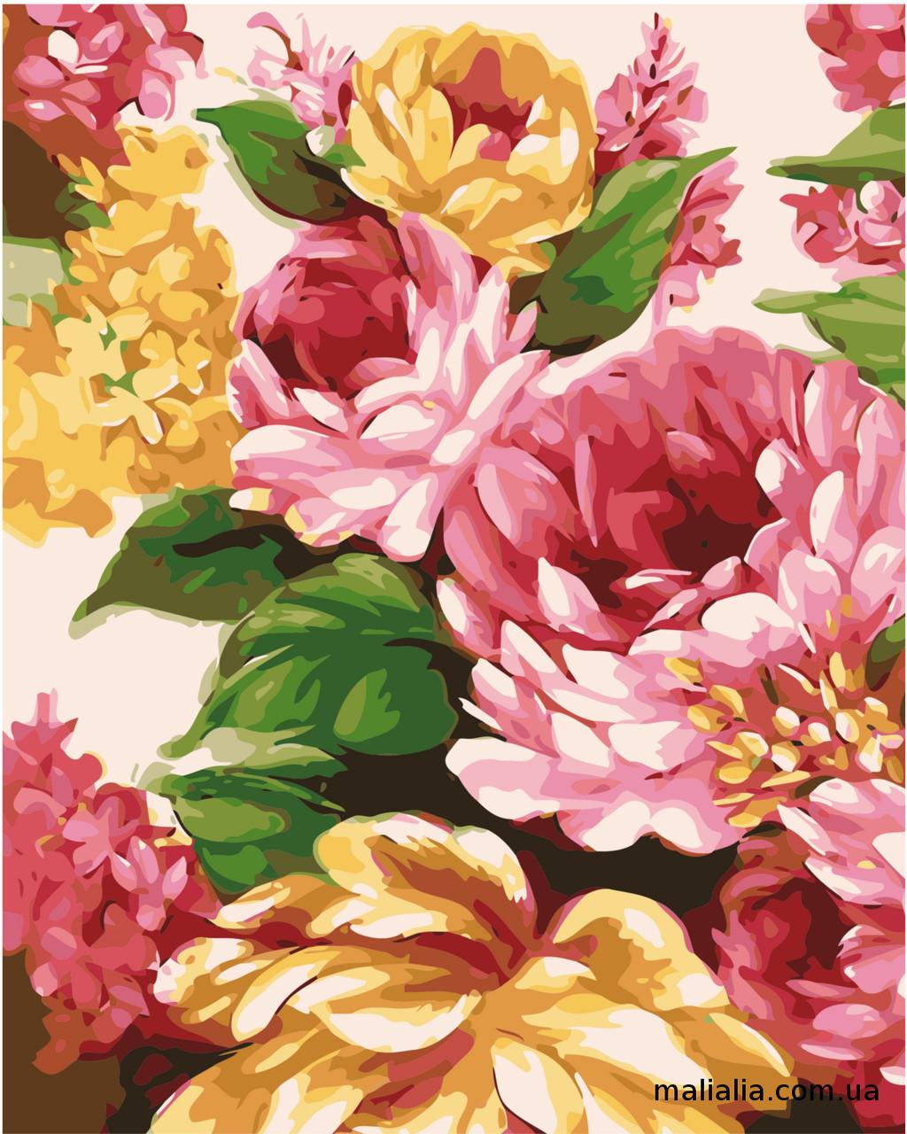 Картины по номерам 40*50 см В КОРОБКЕ Живописные цветы Artstory