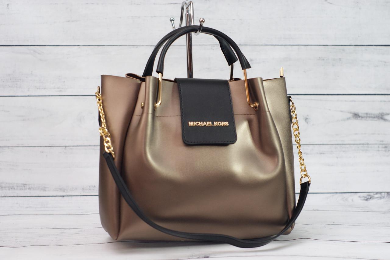 c12d2ae310ff Женская сумка Michael Kors (Майкл Корс), золотисто-черный цвет ...