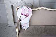 """Демисезонный конверт-одеяло на выписку """"Мамина Зайка"""", розовый, фото 1"""
