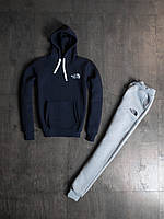 Мужской зимний спортивный костюм The North Face Navy/Grey