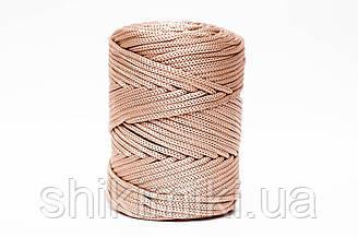 Трикотажный полипропиленовый шнур PP Cord 5 mm, цвет Бежевый