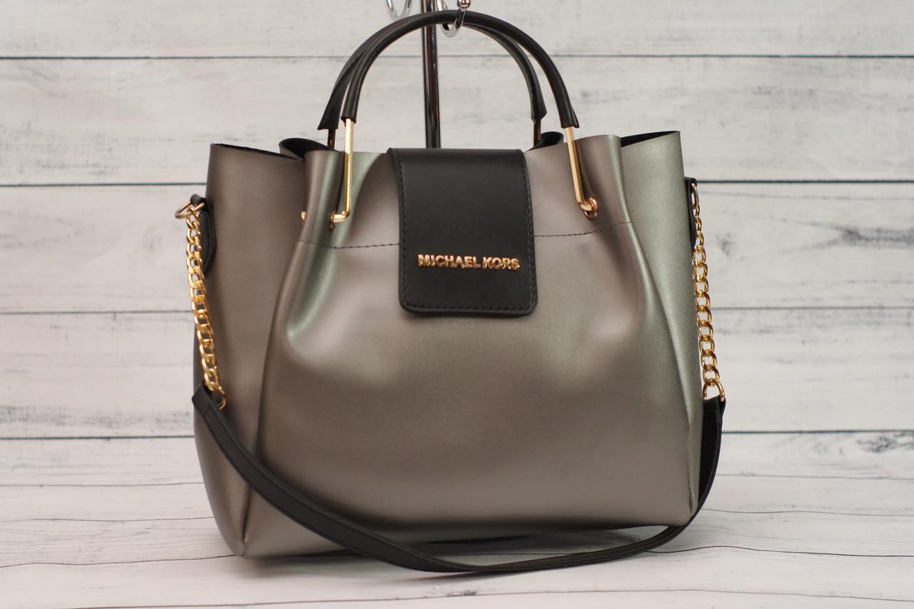 Женская сумка Michael Kors (Майкл Корс), черный графит