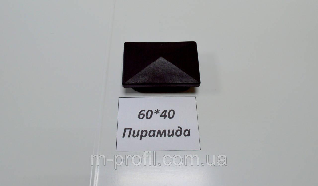 Заглушка 60*40 Пирамида