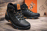 Мужские зимние кожаные ботинки в стиле columbia NS black реплика, фото 1
