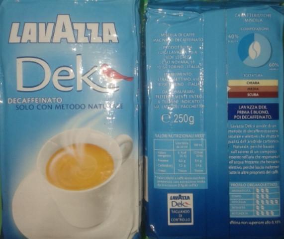 Молотый кофе Lavazza Dek 250 гр