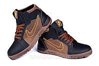 Мужские зимние кожаные ботинки в стиле nike  реплика Anti-Core
