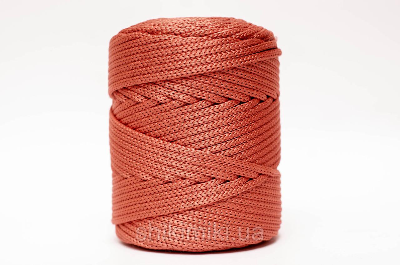 Трикотажный полипропиленовый шнур PP Cord 5 mm, цвет Терракотовый