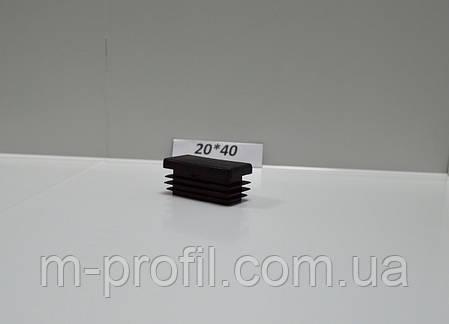 Заглушка прямоугольная 20*40, фото 2