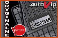 Резиновые коврики CITROEN C-CROSSER 07-  с логотипом, фото 1