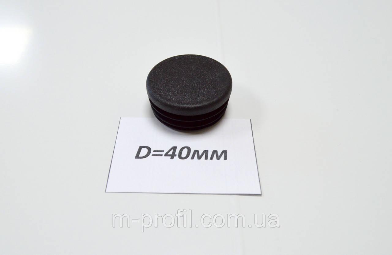 Заглушка круглая D=40