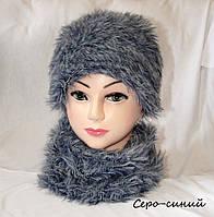 Тепла жіноча шапка з хомутом