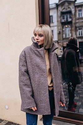 Пальто -шуба укороченная