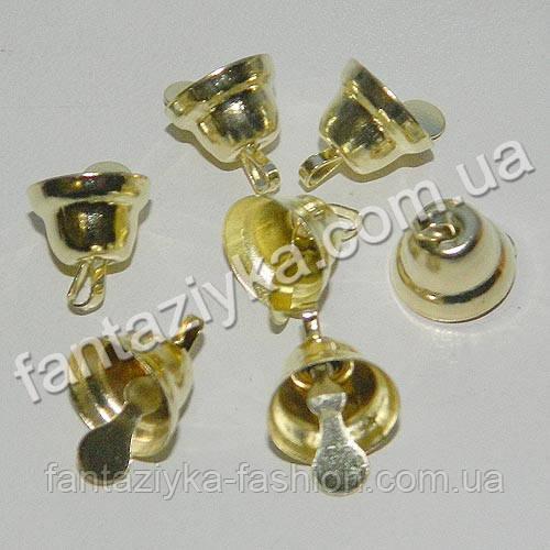 Металлический золотой колокольчик 10мм