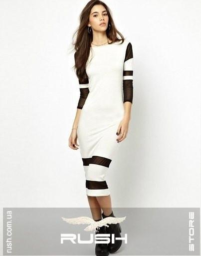 5970463b22f Облегающее платье со вставками из сетки - RUSH STORE интернет-магазин  женской одежды в Николаеве