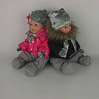 Зимний комплект с малиновой курткой для куклы Baby Born