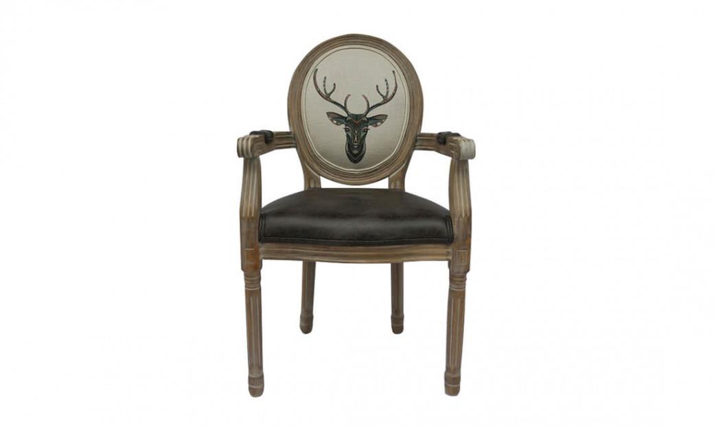 Кресло с подлокотниками Олень Art Deer