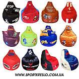 Бескаркасное кресло мяч мешок Фиксики груша пуф для детей мягкий, фото 7