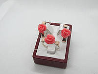 """Ювелирное изделия из серебра с золотой пластиной """"Бантик К"""", фото 1"""