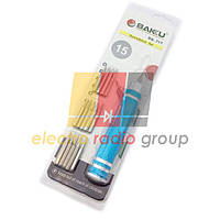 Набор отверток  BAKKU  BK-315 (Ручка+15насадок), Blister