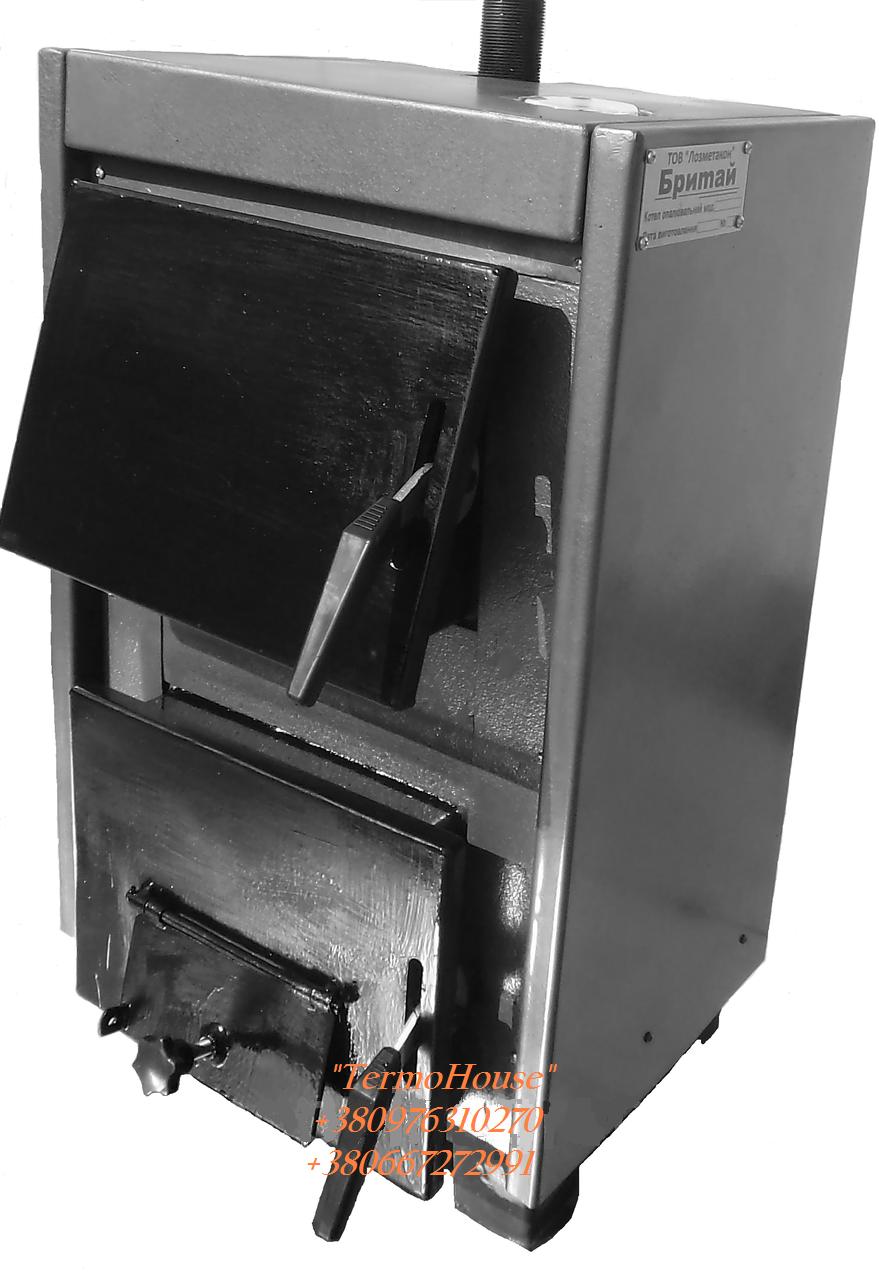 Не дорогой котел на твердом топливе Бритай КОТВ-18 мощностью 18кВт