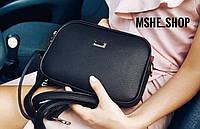 Маленькая черная сумка через плече  АРТ. 010111