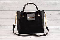 Женская замшевая mini сумка Michael Kors (Майкл Корс), черный цвет, фото 1