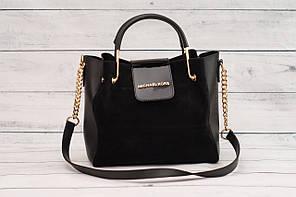 Женская замшевая mini сумка Mісhаеl Коrs (в стиле Майкл Корс), черный цвет ( код: IBG158B2 )