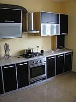 Кухня, фасады из ДСП в алюминиевой оторцовке