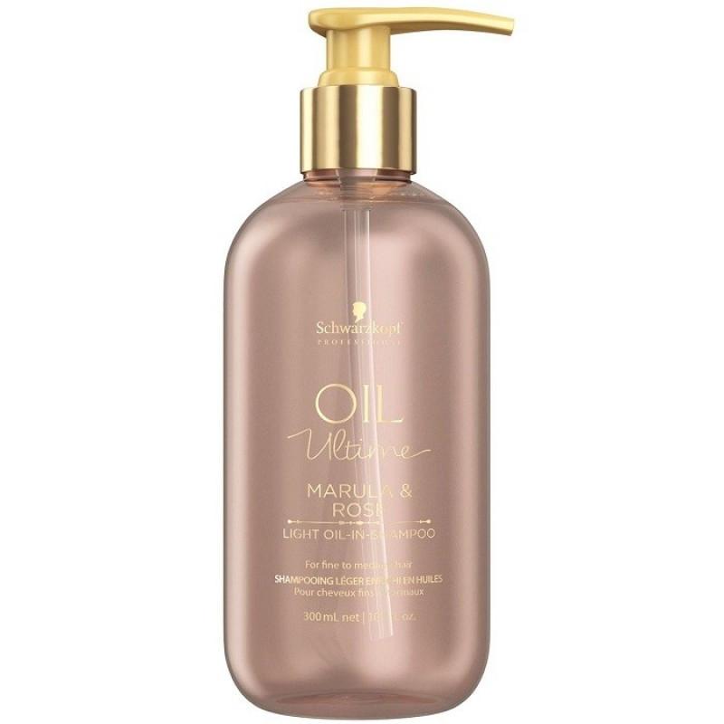 Шампунь с маслом марулы и розы для тонких и нормальных волос Schwarzkopf Oil Ultime