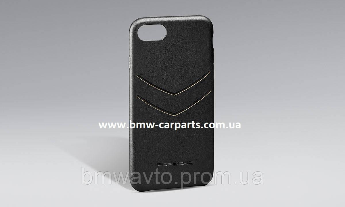 Кожаный чехол Porsche для iPhone 8 Snap-On Leather Case