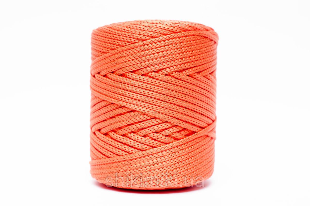 Трикотажный полипропиленовый шнур PP Cord 5 mm, цвет Оранжевый